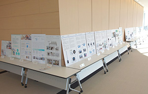 Panel display of each winner's project