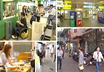 写真:東京都内をフィールド調査