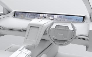 写真:車載用高精細ワイドディスプレイミラーレスモニターシステム