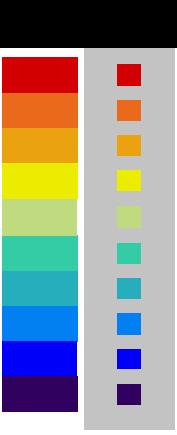 10色汎用グラデーション:10色汎用カラーUDグラデーションのオリジナル画像